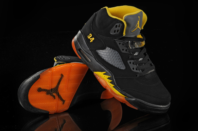 Air Jordan 5 Black Orange Yellow