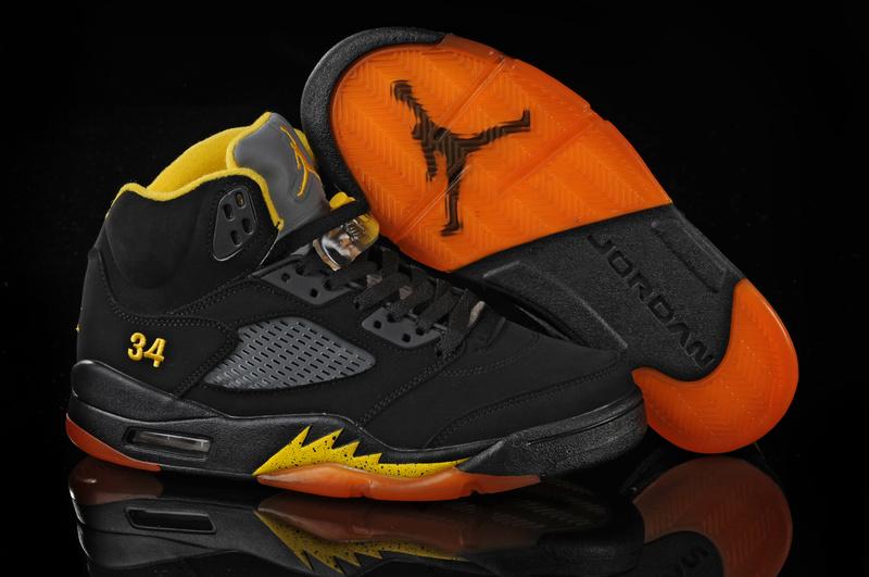 jordan 5 black and yellow