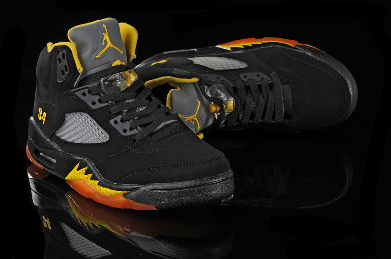 Air Jordan 5 Black Orange
