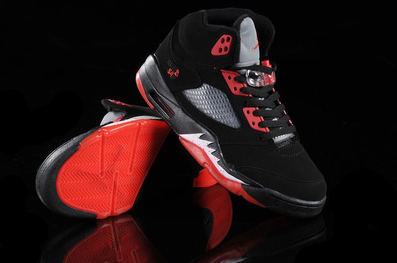 jordan 5 black and red