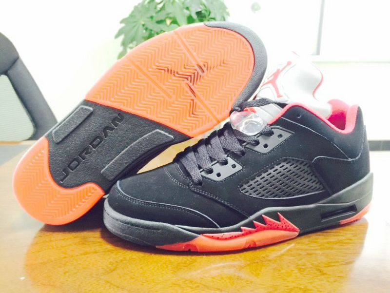 2015 Air Jordan 5 Low Dunk From Above Black Shoes