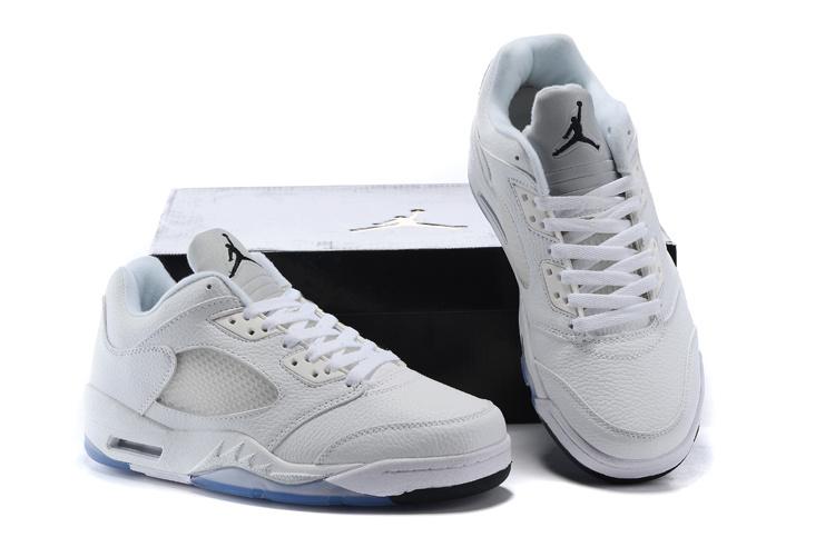 Latest Air Jordan 5 Low Retro Metalic Silver Shoes