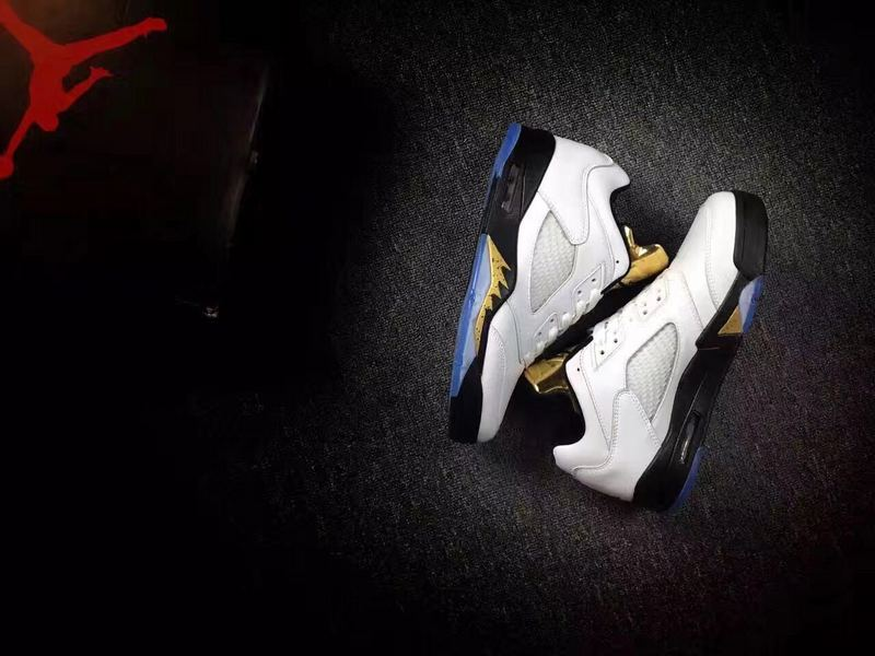 2016 Jordan 5 Low Metallic Gold Shoes