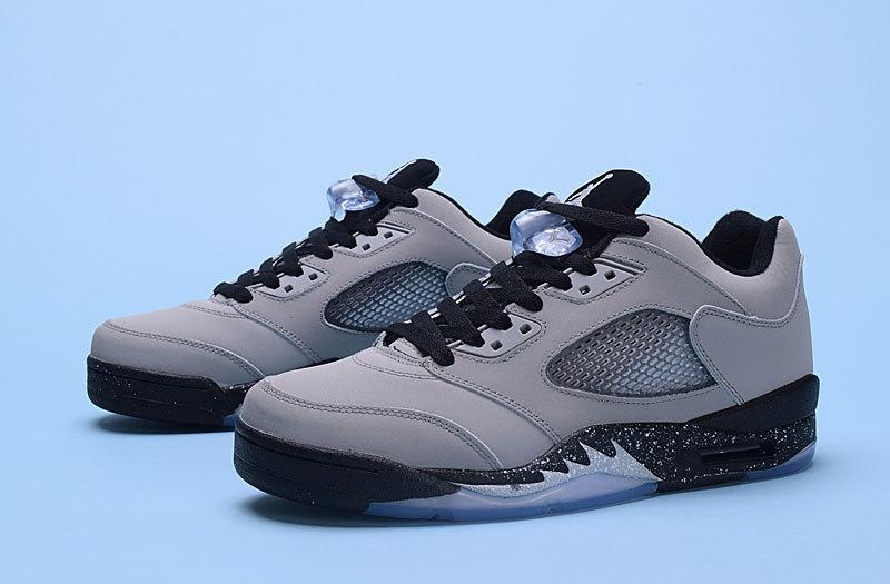 2016 Jordan 5 Low Wolf Grey Black Shoes