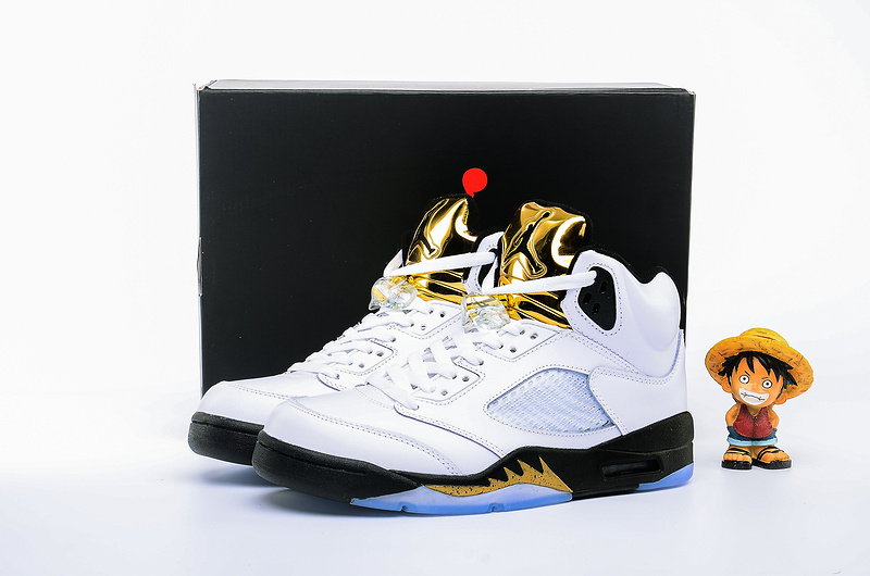 2016 Jordan 5 Olympic White Black Gold