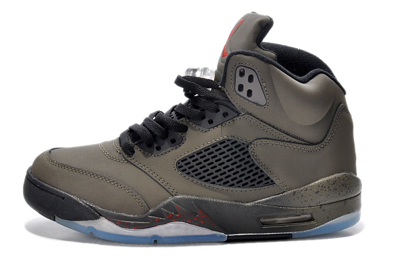 2015 Air Jordan 5 Retro Army Black Shoes