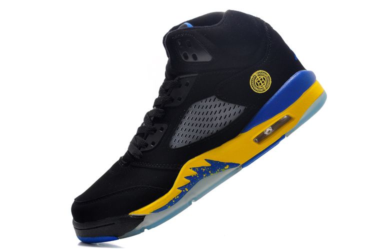 2016 Jordan 5 Black Fire Yellow Shoes