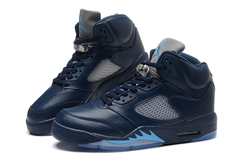 2015 New Jordans 5 Retro Dark Blue