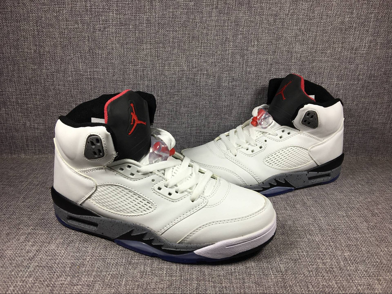 2017 Jordan 5 Retro White Cement Shoes