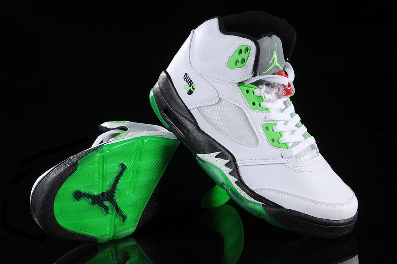 Air Jordan 5 White Green White