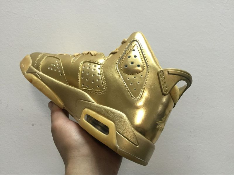 2016 Air Jordan 6 All Gold