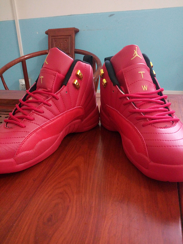 2016 Air Jordan 12 All Red Gold