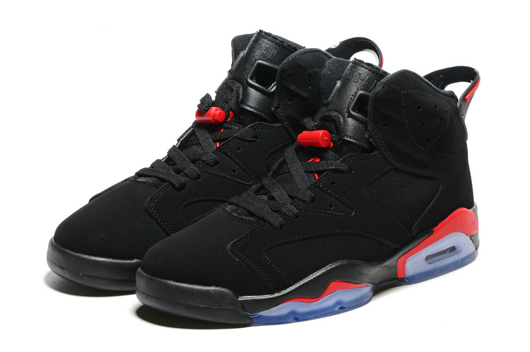 2016 Retro Air Jordan 6 Retro Black Infrad Red Blue Sole Shoes