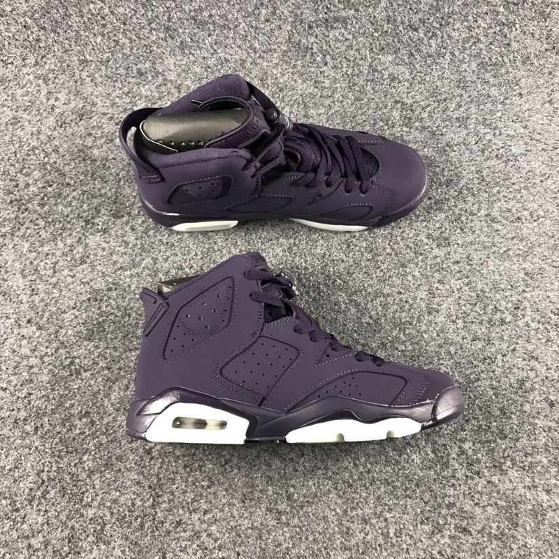 2017 Jordan 6 GS Dark Purple Shoes