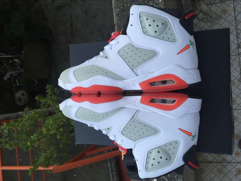 2016 Jordan 6 Hare White Grey Red