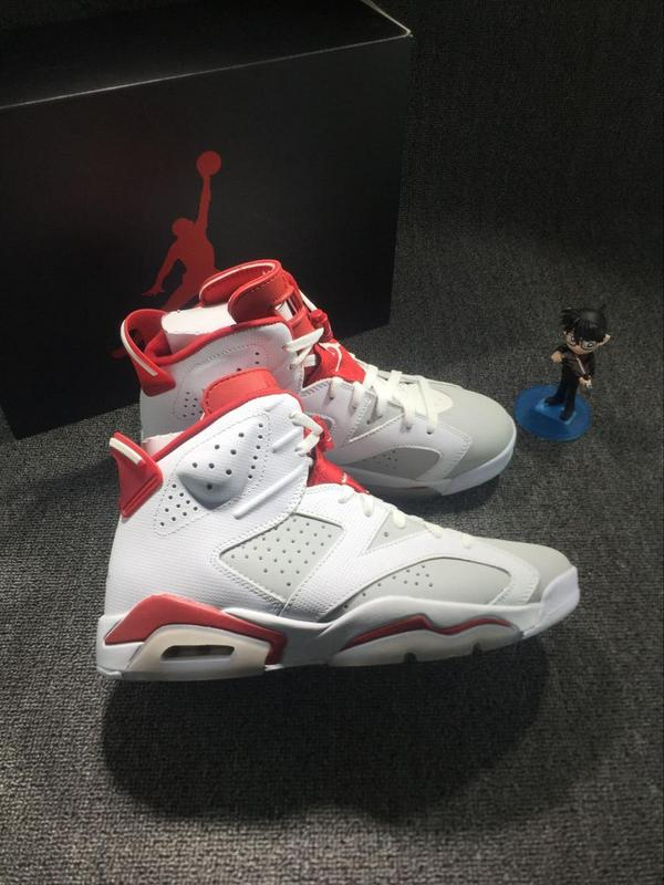 2016 Jordan 6 Hare White Red Shoes
