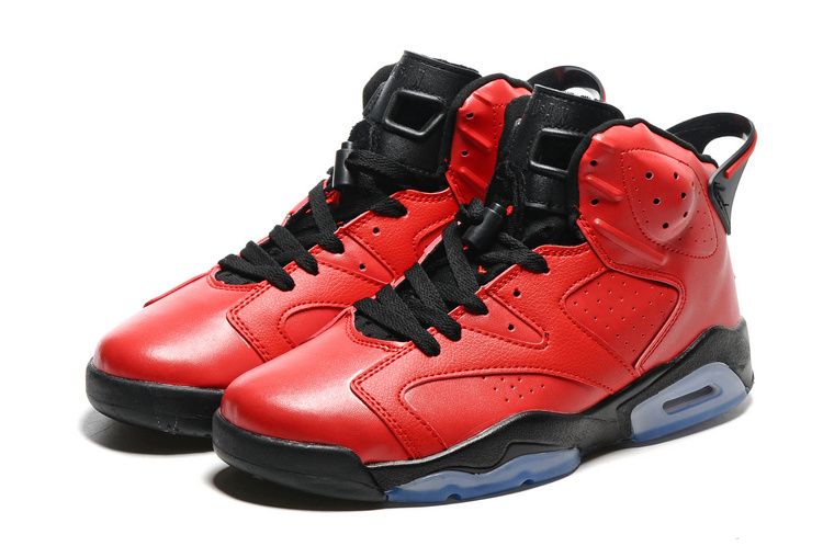 best sneakers 29661 3dbe4 2016 Retro Air Jordan 6 Retro Red Black Blue Sole Shoes