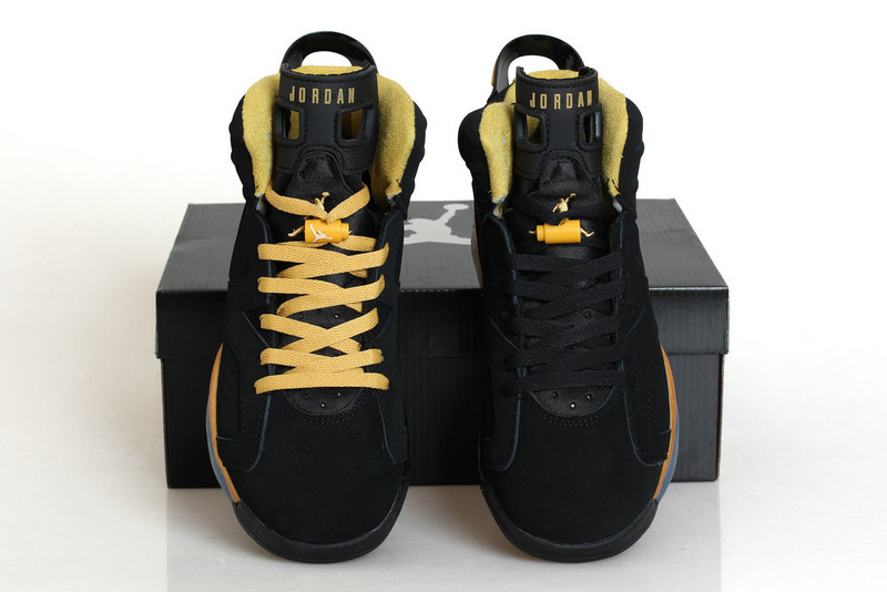 2015 New Black Gold Jordans 6 Retro