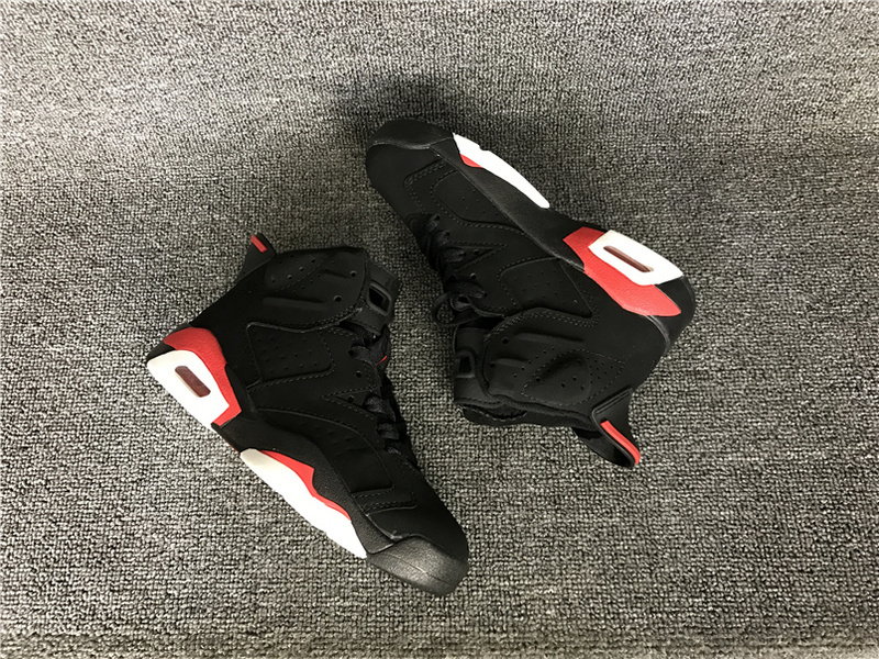 2016 Jordan 6 Retro Black Red Shoes For Kids