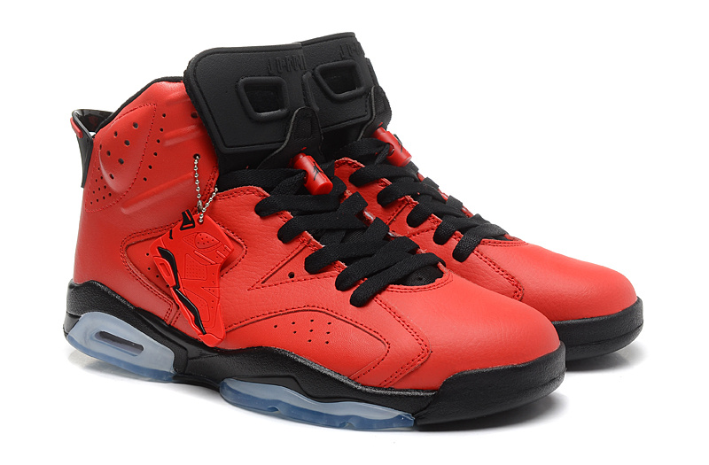 New Air Jordan 6 Retro Red Black Shoes