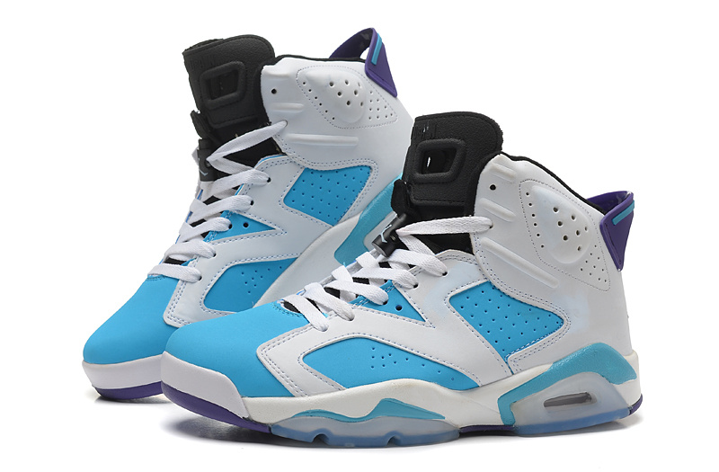 2015 New White Bbay Blue Air Jordan 6 Retro Shoes