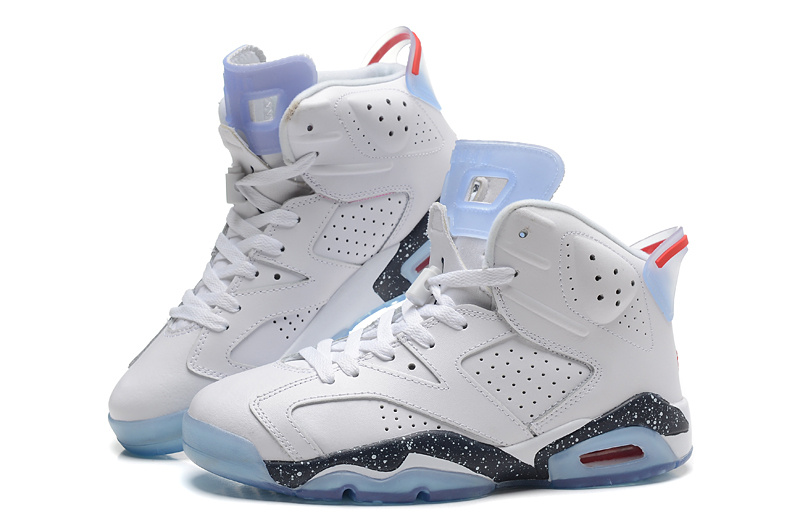 2015 New Air Jordans 6 Retro White Black Baby Blue
