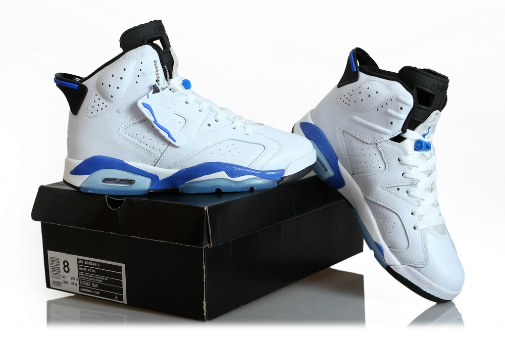 New Air Jordan 6 White Jade Blue Shoes