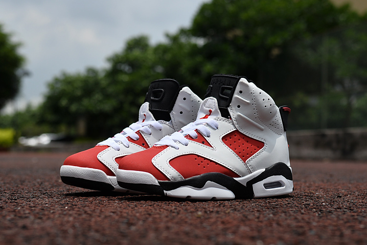 2016 Jordan 6 Retro White Red Black Shoes For Kids