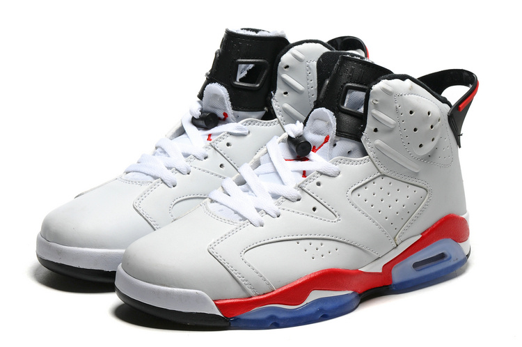 2016 Retro Air Jordan 6 Retro White Red Blue Sole Shoes