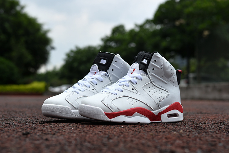 2016 Jordan 6 Retro White Red Shoes For Kids