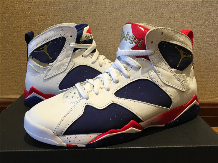 2016 Jordan 7 2016 Olympic White Blue Red Gold
