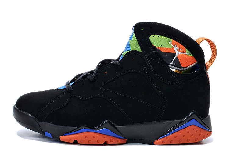 2015 Air Jordan 7 Retro Black Orange Blue Shoes