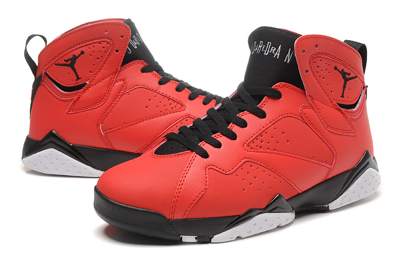 New Red Black Jordans 7 Retro