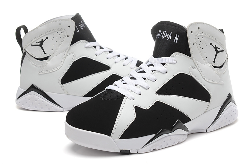 2015 New Jordans 7 Retro White Black