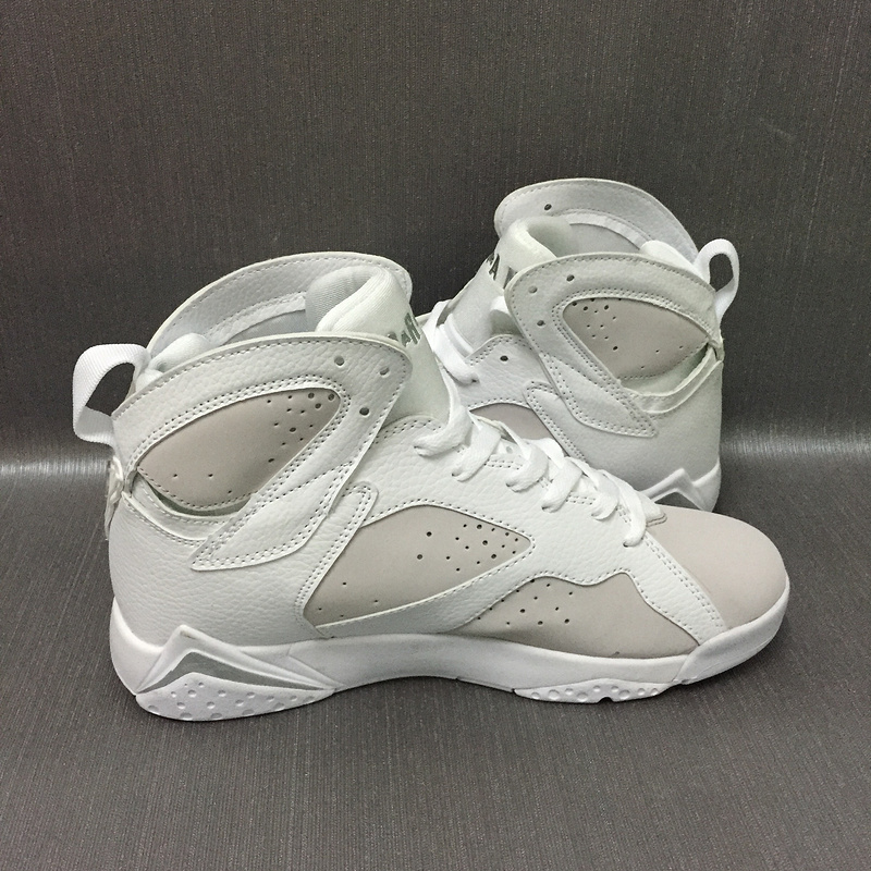 2017 Jordan 7 Retro White Grey Shoes