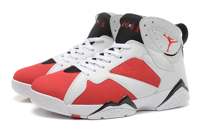 2015 New Jordans 7 Retro White Red Black