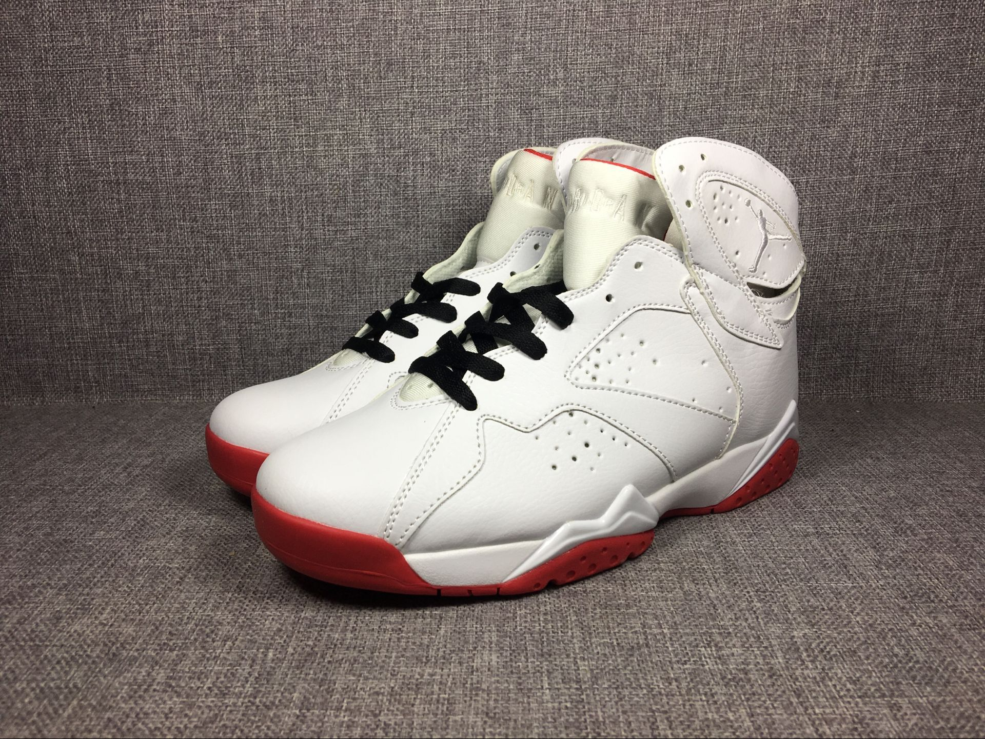 2017 Jordan 7 Retro White Red Shoes