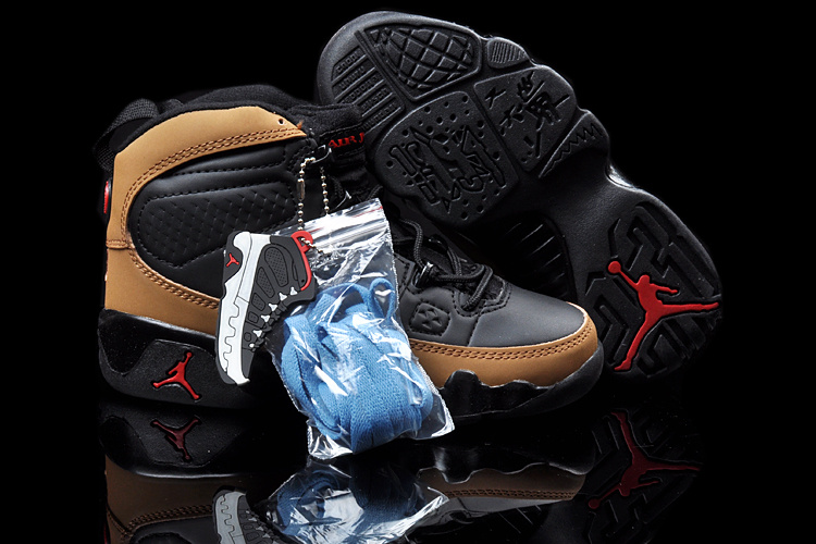 New Air Jordan 9 Black Brown For Kids