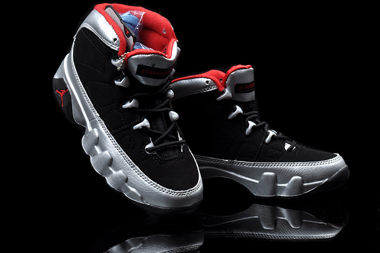 New Air Jordan 9 Black Silver Red For Kids