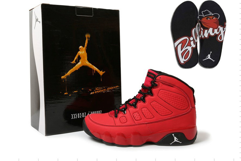New 2012 Air Jordan 9 Hardcover Red Black Shoes