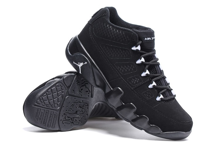 Latest Air Jordan 9 Low Retro All Black Shoes