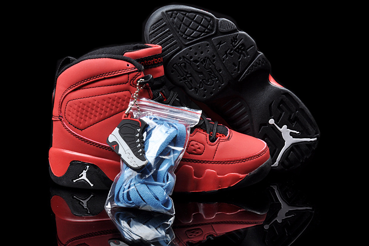 New Air Jordan 9 Red Black For Kids