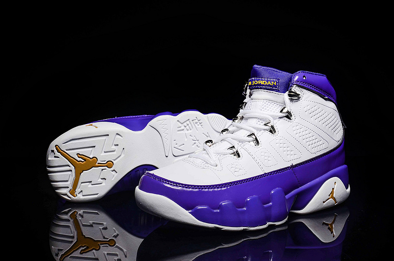 2016 Jordan 9 Retro White Purple Shoes For Women