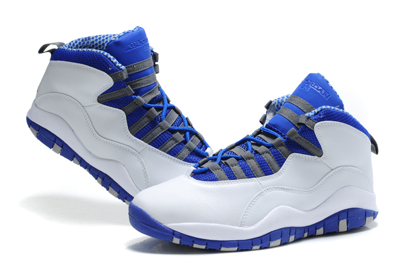 New Air Jordan Retro 10 White Blue Shoes