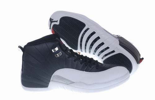 New Air Jordan Retro 12 Dark Blue White Shoes