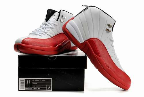 New Air Jordan Retro 12 White Red Shoes