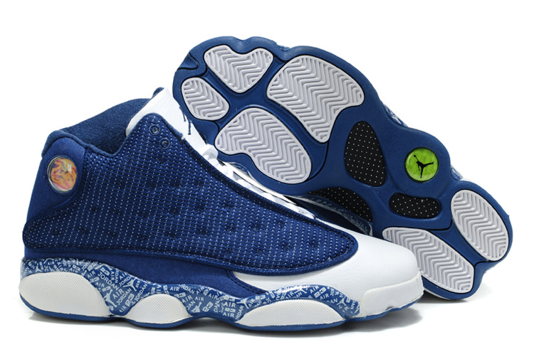 New Air Jordan Retro 13 Dark Blue White Shoes