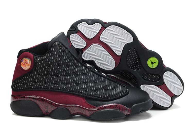 New Air Jordan Retro 13 White Wine Red Shoes