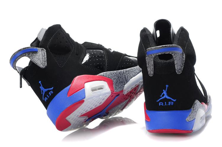 Air Jordan Retro 6 Nero Rosso Blu Grigio TMBOy8qGn