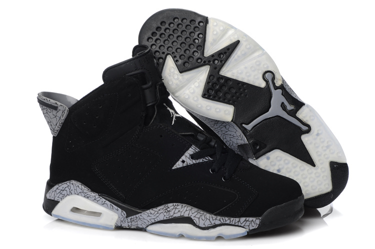 9da78fc32c9 New Air Jordan Retro 6 Black Grey Shoes